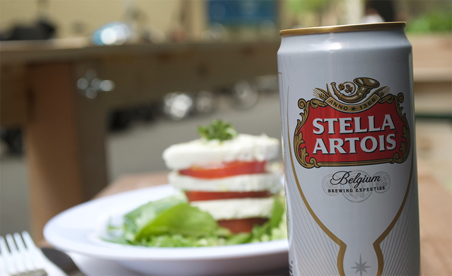 Stella and Caprese Salad Yo
